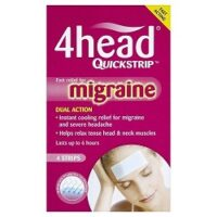 4Head - Quickstrip Migraine Relief Strips - 4 Pack