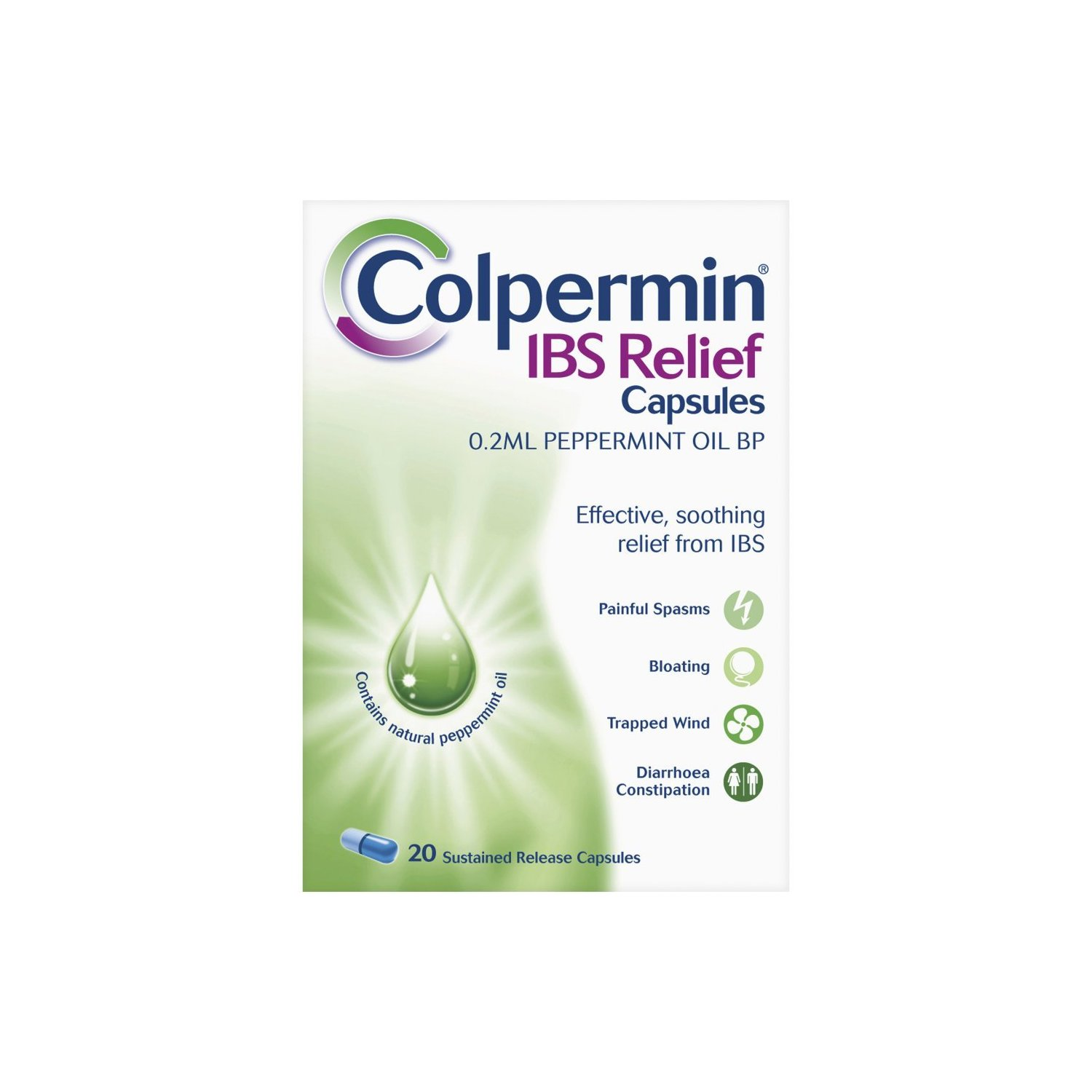 Colpermin IBS Relief capsules - 20