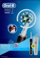 ORAL B PRO 2 BY BRAUN MODEL 2500N RECHARGEABLE TOOTHBRUSH WITH BONUS TRAVEL CASE